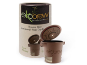Ekobrew 1-pc. Ekobrew Reusable Single-Cup Filter, Brown