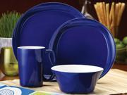 Rachael Ray 16-pc. Round & Square Dinnerware Set, Blue Raspberry