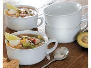 CHEFS Set of 4 Porcelain Soup Bowls, White
