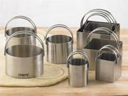 CHEFS 8-pc. Round and Square Stainless Steel Biscuit Cutters