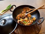 Andrew Zimmern 14.5-in. Cast-Iron Enameled Wok with Lid