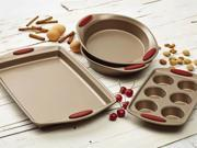 Rachael Ray 4-pc. Nonstick Cucina Bakeware Set, Cranberry