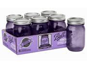 Ball® Set of 6 Regular Mouth Heritage Collection Pint Jars, Purple