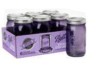 Ball® Set of 6 Wide Mouth Heritage Collection Quart Jars, Purple