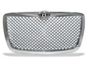 Chrome Diamond Mesh Vip Sport Grill Grille with Bently Emblem