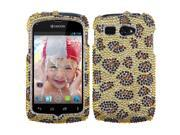 Gold/Brown Leopard Diamond/Bling Protector Cover Case for KYOCERA Hydro C5170