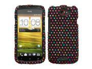 Sprinkle Dots Bling Diamante Case Cover Protector for HTC One S