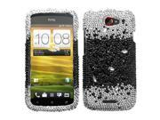 HTC One S Hard Cover Case - Black Universe With Full Rhinestones