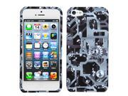 Mechanical Gears Design Snap on Case +Screen Protector For iPhone 5 5S
