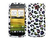 Colorful Leopard Design Snap on Case +Screen For One S