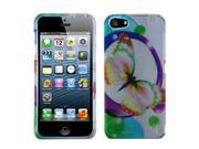Colorful Butterfly 2D Snap on Case +Screen Protector For iPhone 5 5S