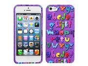Alphabet Rings Hard Snap on Design Protective Cover Case for iPhone 5