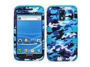 Blue Camouflage/Teal Case Hybrid TUFF Cover for Sam T-Mobile Galaxy S II T989