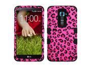 Leopard Skin Pink/Black TUFF Design Case +Silicone +Screen For G2 or G2 Optimus