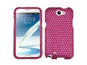 Dots (Hot Pink/White) Bling Diamond Case +Screen Protector For Galaxy Note II