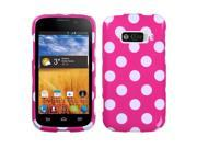 White Polka Dots/Hot Pink Design Snap on Case +Screen For Imperial N9101