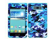 Aquatic Camouflage/Tropical Teal Case +Silicone TUFF Cover - LG Venice Splendor