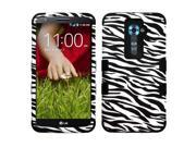 Black/White Zebra Skin Impact Design Hard Protector TUFF Cover Case for LG G2