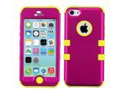 Pink/Yellow Impact Hard Hybrid Protector TUFF Cover Case for iPhone 5C