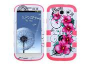 Morning Petunias/Pink Case +Silicone Protector TUFF Cover Samsung Galaxy S3