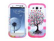 Love Tree/Pink Hard Case +Silicone Protector TUFF Cover Samsung Galaxy S3