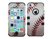 Baseball/Sports White/Red/Black TUFF Design Case +Silicone +Screen For iPhone 5C