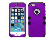Purple/Black Impact Hard Case Silicone Hybrid Protect TUFF Cover for iPhone 5 5S