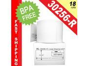"""DYMO-Compatible 30256-R REMOVABLE Large Shipping Labels (2-5/16"""" x 4"""") -- BPA Free! (18 Rolls&#59; 300 Labels per Roll)"""