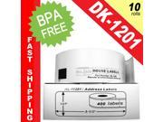 "BROTHER-Compatible DK-1201 Address Labels (1-1/7"" x 3-1/2""&#59; 29mm*90mm) -- BPA Free! (10 Rolls&#59; 400 Labels per Roll)"
