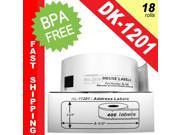"BROTHER-Compatible DK-1201 Address Labels (1-1/7"" x 3-1/2""&#59; 29mm*90mm) -- BPA Free! (18 Rolls&#59; 400 Labels per Roll)"