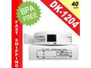 "BROTHER-Compatible DK-1204 Multipurpose Labels (2/3"" x 2-1/8""&#59; 17mm*54mm) -- BPA Free! (40 Rolls&#59; 400 Labels per Roll)"