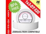 "Zebra/Eltron-Compatible 1 x 3 Labels (1"" x 3"") -- BPA Free! (36 Rolls&#59; 520 Labels per Roll)"