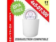 "Zebra/Eltron-Compatible 4 x 5 Labels (4"" x 5"") -- BPA Free! (11 Rolls&#59; 300 Labels per Roll)"