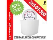 "Zebra/Eltron-Compatible 3 x 5 Labels (3"" x 5"") -- BPA Free! (9 Rolls&#59; 300 Labels per Roll)"