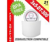 "Zebra/Eltron-Compatible 3 x 5 Labels (3"" x 5"") -- BPA Free! (21 Rolls&#59; 300 Labels per Roll)"