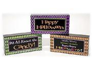 Wood Halloween Blocks Set of 3
