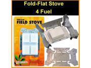 Esbit Style Fold Flat Tempered Survival Stove - Pocket Size -
