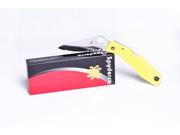 Spyderco Pacific Salt Yellow - Rust Free! Model # C91SYL