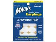 Mack'S Pillow Soft Silicone Earplugs, Value Pack, 6 Pr - Pillowsoft Valuepack 6 Pr