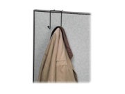 """Double Coat Hook, for Partitions, 4""""x5-1/8""""x6"""", Black"""