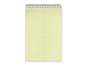 """Rediform 36646 National Wirebound Steno Notebook 60 Sheet - 6"""" x 9"""" - 1 Each - Green Paper"""