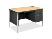 "HON A88251RDS Mentor Single Pedestal Desk Rectangle - 1 Pedestals - 48"" x 30"" x 29.5"" - Natural Maple Leg"