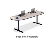 "Bretford RAETP4220NB Laminate Conference Table Top Racetrack - 10 ft x 42"" x 29"" - Particleboard - Nebula Gray Top"