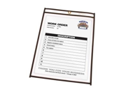 C-Line Products- Inc. CLI46058 Shop Ticket Holder- Stitched- 5in.x8in.- Clear Vinyl