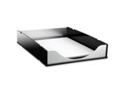 Kantek KTKBA310 Letter Tray- Aluminum- Black-Acrylic