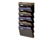 Rubbermaid RUBL16663 Wall File System Set- 7 Compartments- 13in.x4in.x29-.25in.- Smoke