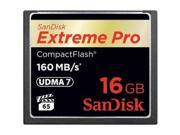 SanDisk 16GB Extreme Pro CompactFlash Memory Card (160MB/s)