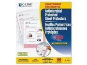 C-Line Products- Inc. CLI62033 Top-Load Sheet Protector- Antimicrobial- Heavyweight- CL
