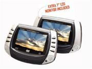 "Curtis 7"" Portable Dual Screen DVD Player"