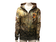 Multi Color Brown & Green Sublimation Rhinestone Hoodie